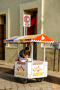 Street cart in San Cristobal de las Casas