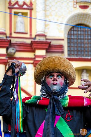 The Parachico or Parachicos dancers in Chiapas