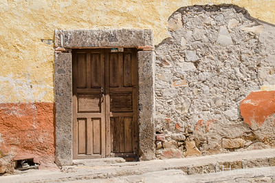 Old stucco and a door
