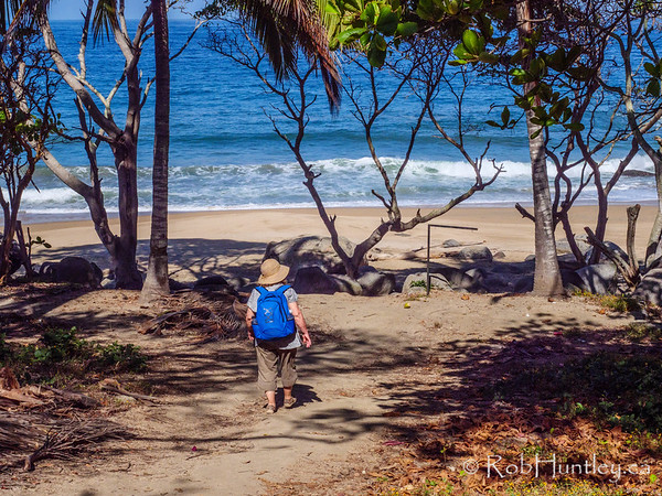 The approach to Playa Carricitos, Sayulita.