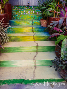 Painted Entrance Stairs