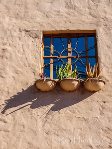 Upstairs Window with Planters
