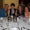 Ray, Linda, Quincy and Alex <br /> Group shot after dinner.
