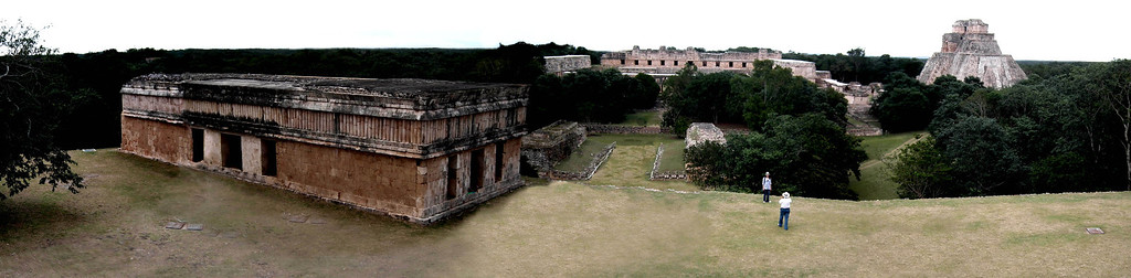"""Uxmal:   view from the """"Governor's Palace"""