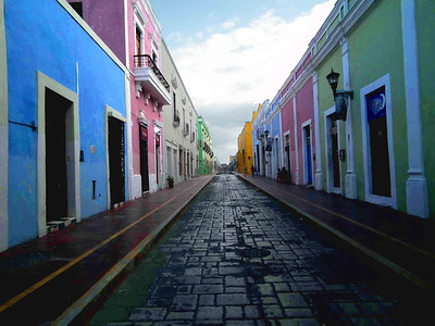 The other end of Calle 59 in Campeche.