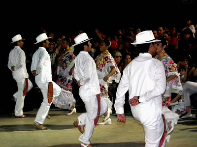 New Year Dance Festival in Merida. All the men wore sandals.