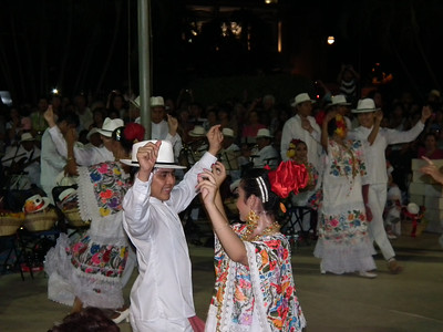 New Year Dance Festival in Merida. The band is in the background.