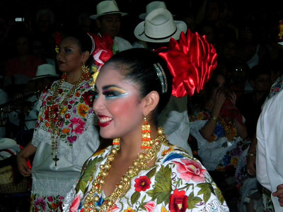 One of the women Mayan dancers.