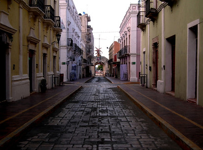 Calle 59 in Campeche.