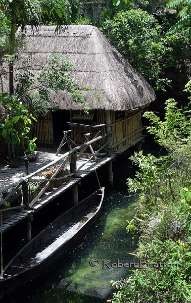 Mayan Hut on the River
