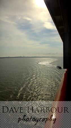 Carnival Triumph Cruise - As the ship leaves Galveston heading toward Mexico the sun heads toward the horizon - Photo by Dave Harbour
