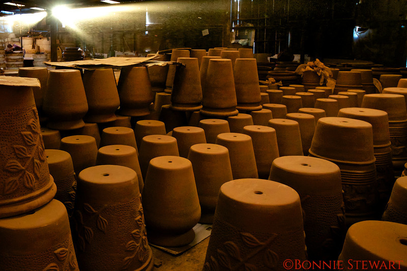 Pottery Factory with light streams