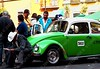 Mexico - DF - centro - taxi driver and passengers