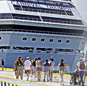 Mexico - Carnival Triumph 2012 Cruise, Progresso & Chichen Itza Shore Trip - CLOSE UP OF NAME, CARNIVAL TRIUMPH