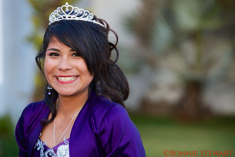 A young woman's Quinceanera Celebration