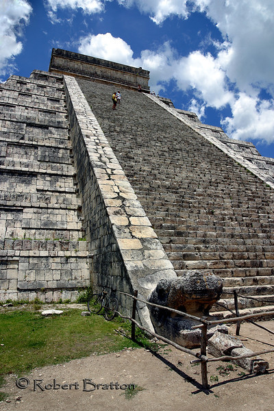Stairs on one side of Chichen Itza