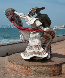 The Mexican Dancers on the Malecon Puerto Vallarta  Feb 2012