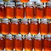 Honey jars in the market