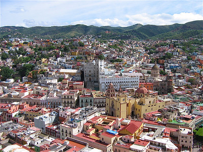 Overzichtsfoto Guanajuato. Mexico.