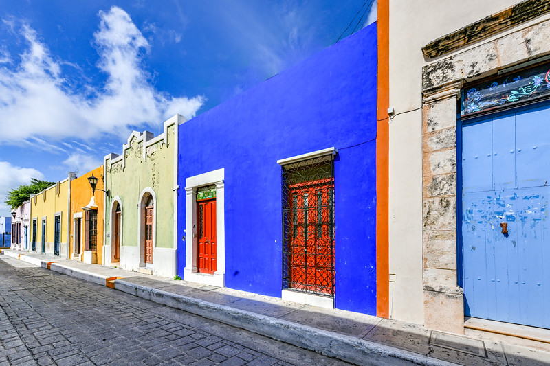 Colonial Houses - Campeche, Mexico