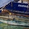 A boat in the Ensenada Harbor