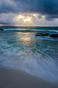 Cancun - Clouds and Sea at Dawn