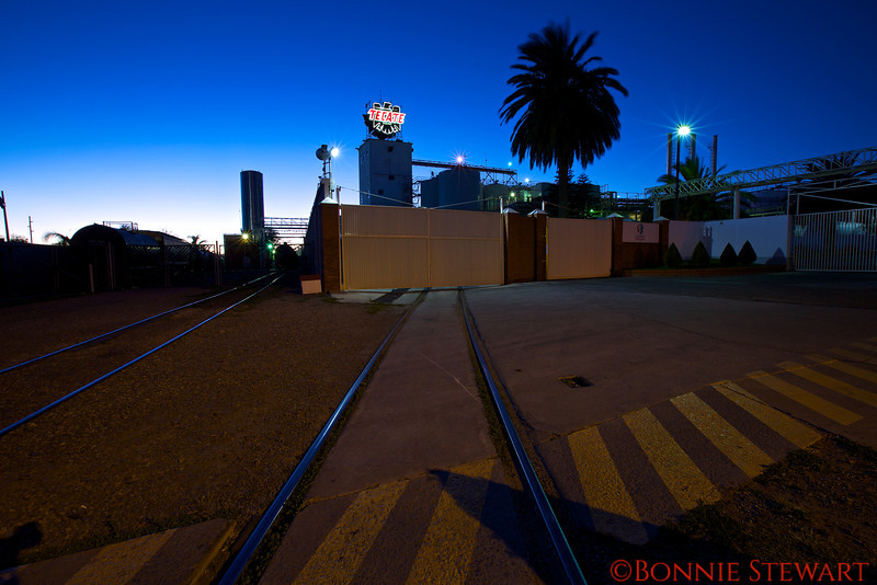 Tecate Brewery at twilight
