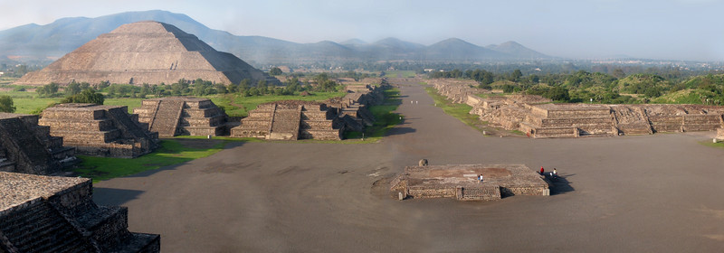Teotihuacan. Pyramid of the Sun and the Street of the Dead
