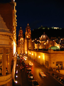 Zacatecas by night, Mexico.