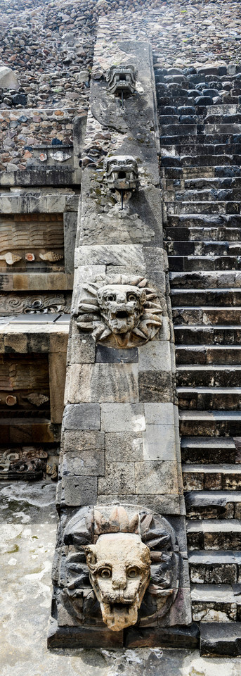 Teotihuacan Pyramid Stairway