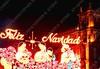 Mexico - DF - centro - Zocalo - Christmas lights - Feliz Navidad