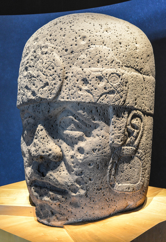 Stone Carved Olmec Head