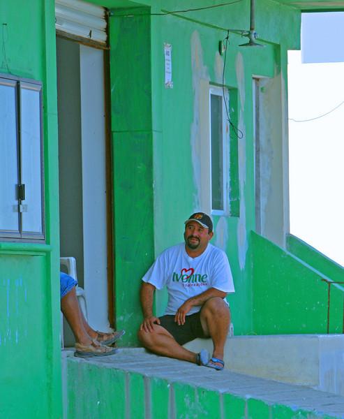 Fishermen wait