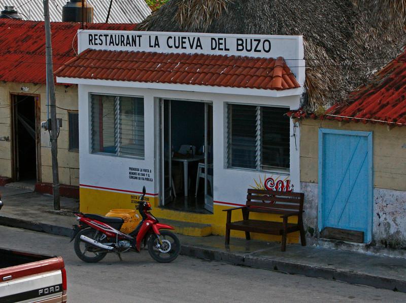 A small restaurant in Rio Lagartos