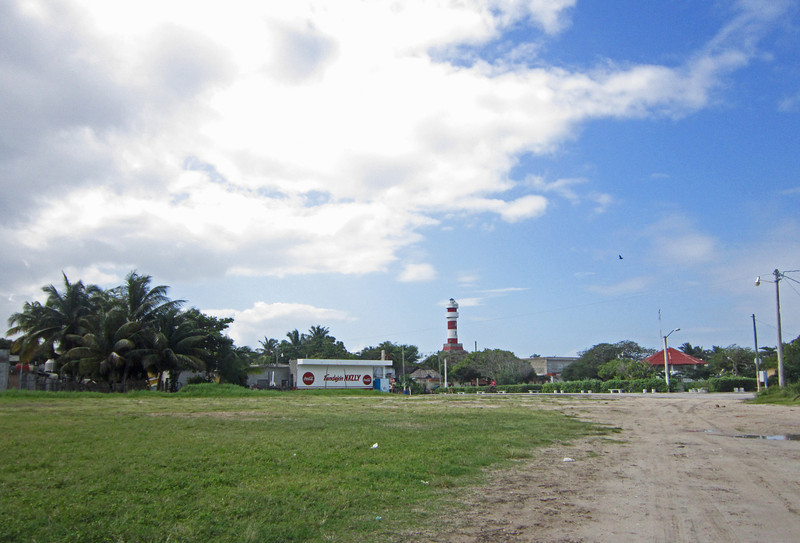 The soccerfield and lite house in El Cuyo