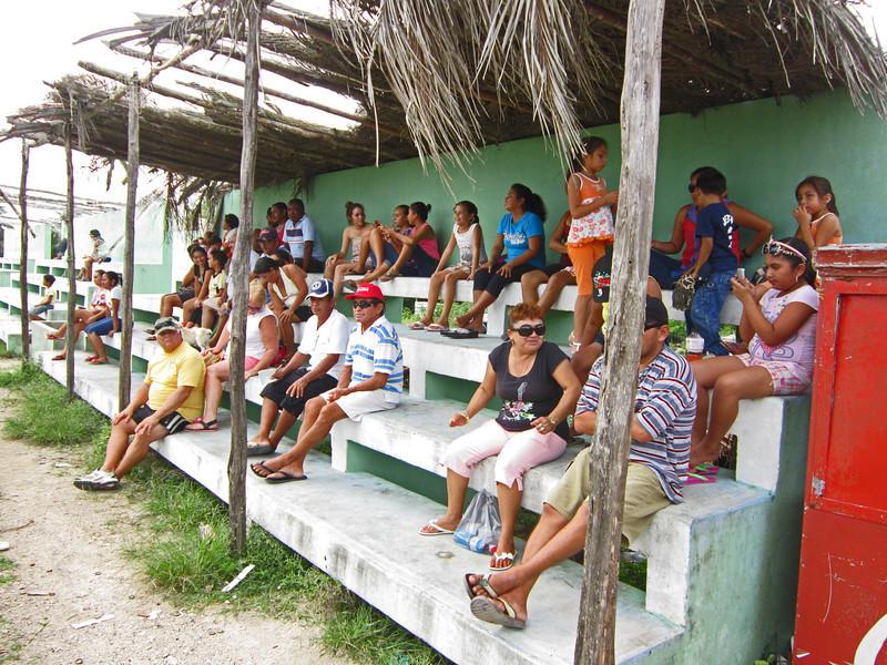 The bleachers at the baseball park El Cuyo Yucatan