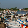 This is the harbor in El Cuyo Yucatan. A small port of about 2500 fishermen it has been the place I have spent several winters over the years.  The number of boats and fishermen has doubled and the number of fish has shrunk making it hard to make a living as a fisherman.