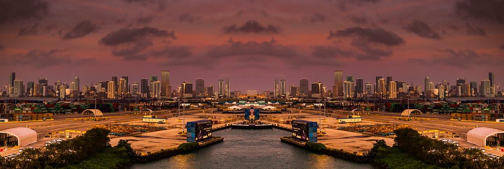 邁阿密港的夜景,我的發現
