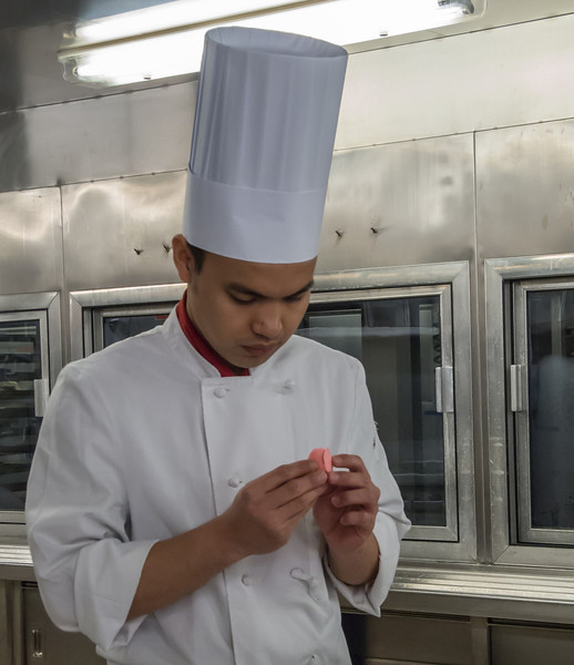 • The ship's food galley<br /> • One of the desserts they are preparing for dinner