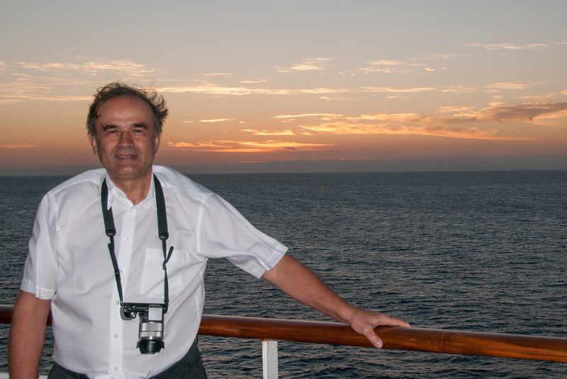 Another photographer I met on deck while taking sun rise photos.