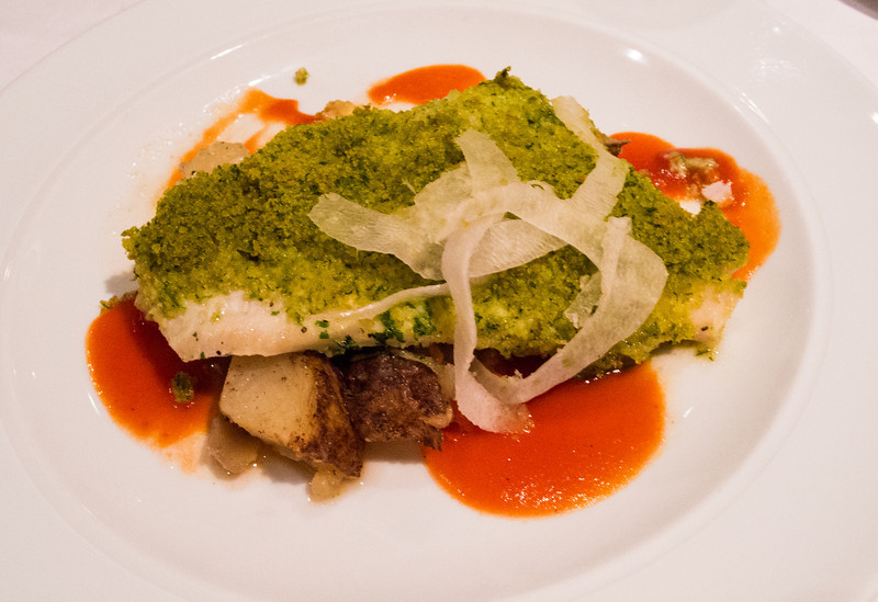 • One dining at the main restaurant area <br /> • Encrusted white fish with potatoes