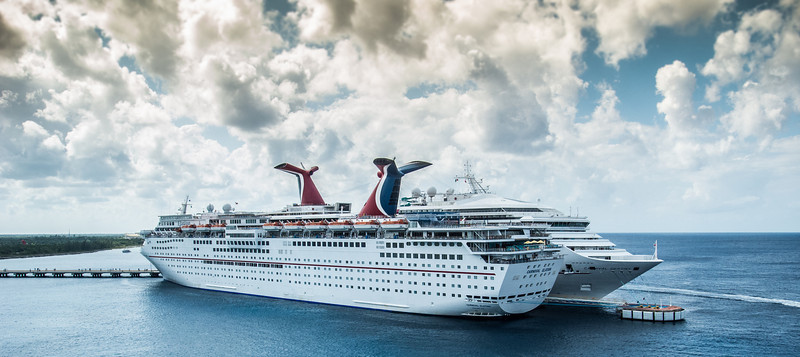 • Location - Cozumel<br /> • The Carnival Destiny and Elation ships were docked at the same time we were