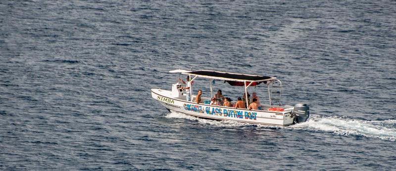 • Location - Cozumel<br /> • A Glass Bottom Boat