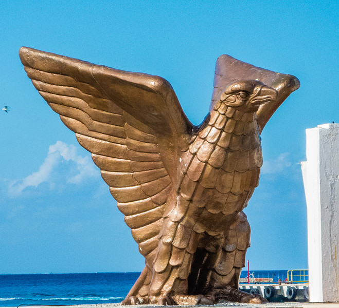 • Location - Cozumel<br /> • Bronze Bird Sculpture