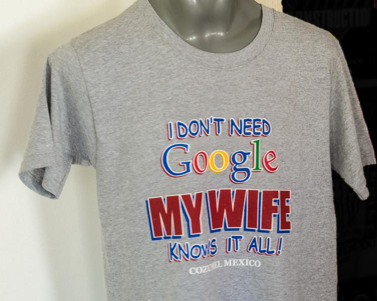 • Location - Cozumel<br /> • Interesting T-shirt