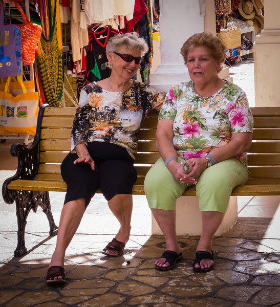 • Location - Cozumel<br /> • Judy and Sandy resting after a hard morning of shopping