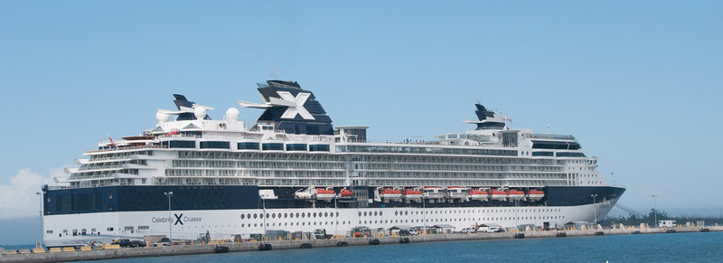 A view of Celebrity Constellation on the way back to the ship from downtown Key West.