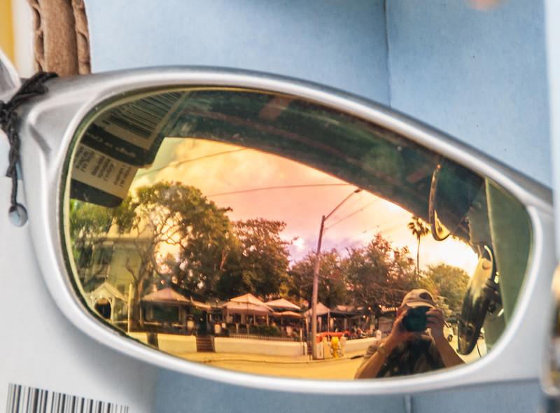Interesting sunglasses reflection, yep that's me.