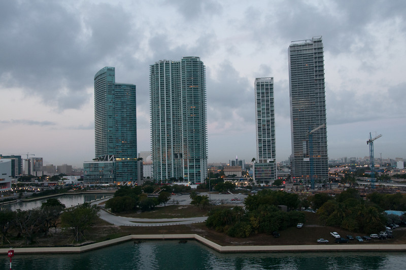 • This photo was taken from the Celebrity Constellation<br /> • Miami skyline