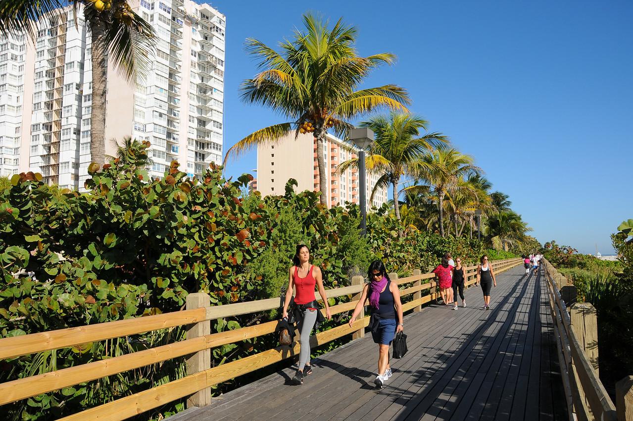 Boardwalk along Miami Beach - December 2012